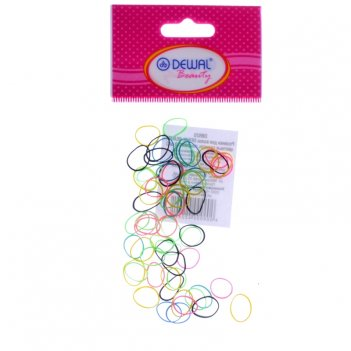Резинки dbr20 для волос силикон цветные, mix mini (50 шт.)