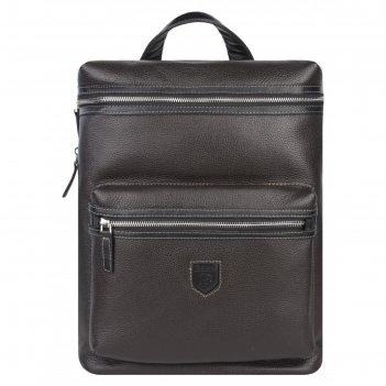 Рюкзак мужской, коричнево-черный, 295x380x120