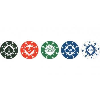 Фишки покерные профессиональные с номиналом chips12
