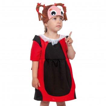Карнавальный костюм божья коровка мила   87004-xs