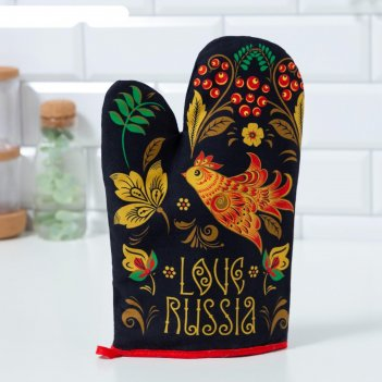 Варежка-прихватка этель russian style 20х27см,100% х/л, ватин 250г/м2