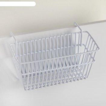 Корзина подвесная 20x12x9.5 см, цвет белый