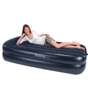 67403 надувная кровать premium air bed queen (2-х местная)
