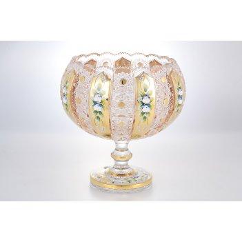 Фруктовница с золотом bohemia max crystal