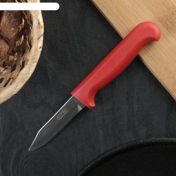 Нож для овощей «элегант», лезвие 7,5 см, красная рукоять