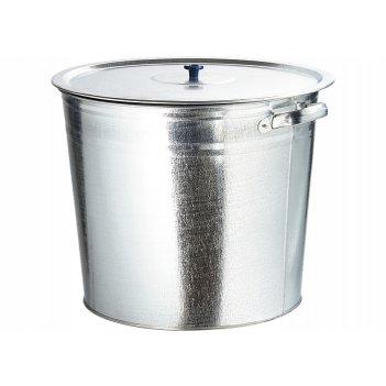 Бак для воды оцинкованный с крышкой (крышка с ручкой) 32л, без крана росси