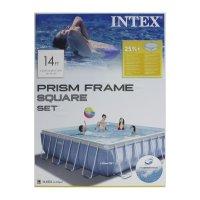 Бассейн каркасный, квадратный prism frame set, 427х107 см, фильтр-насос, л