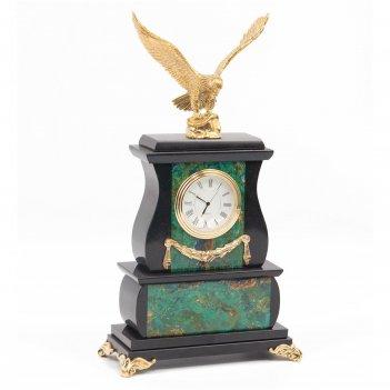 Часы орел азурмалахит бронза
