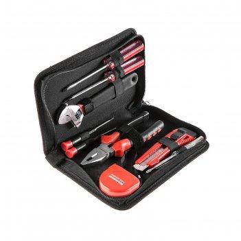 Набор инструментов hammer flex 601-035, в кейс-папке, 9 предметов