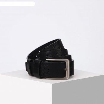 Ремень мужской 07-01-02-01, 4*0,3*115 см, винт, пряжка металл, черный