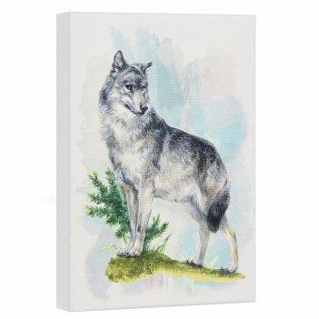 Постер лесная серия: волк