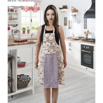 Фартук кухонный karna с салфеткой 30x50 см, 360 г/м2, цвет светло-сиреневы