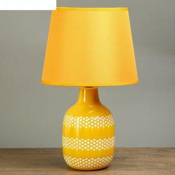 Лампа настольная малика медовый 1х40w е14 42х25х25 см