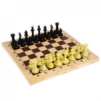 Шахматы айвенго обиходные с деревянной шахматной доской и шашками