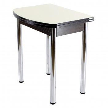 Стол поворотно-раскладной спг-07 ст1 венге/песок/хром прямые
