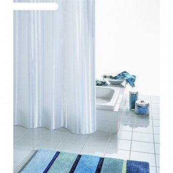 Штора для ванной комнаты satin, цвет белый 180х200 см