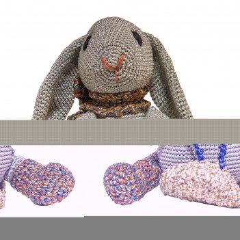 Набор для вязания игрушки кролик на санках степка 18х17 см