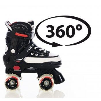 Роликовые коньки hudora rollschuh roller skate черные (22032) размер 36-39