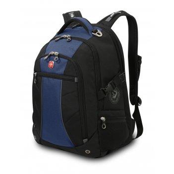 Рюкзак wenger, синий/чёрный, полиэстер 900d/рипстоп, 36x19x47 см, 32 л