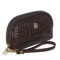 Косметичка п/овал, l-к74, 17*2*12см, 4отд, н/карман, с ручкой, коричневый