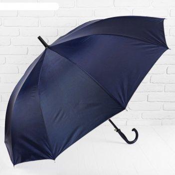 Зонт полуавтоматический, r = 61 см, 10 спиц, цвет синий