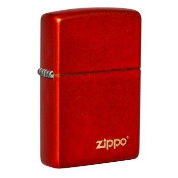 Зажигалка zippo classic с покрытием metallic red, латунь/сталь, красная, м
