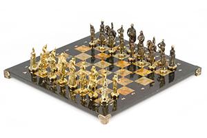 Шахматы русские бронза офиокальцит 400х400 мм
