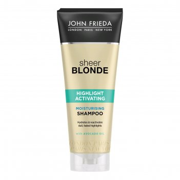 Увлажняющий активирующий шампунь john frieda sheer blonde, для светлых вол