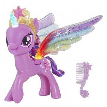 Игрушка hasbro my little pony «пони искорка», с радужными крыльями