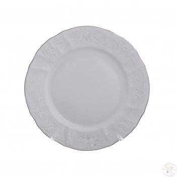 Набор тарелок bernadotte платиновый узор 19 см(6 шт)