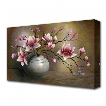 Картина на холсте ваза с цветами