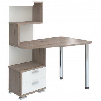 Стол скм-60, угол правый, 1200 x 780 x 1450 мм, цвет нельсон/белый