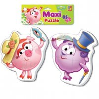 Пазлы мягкие baby puzzle макси смешарики нюша и бараш