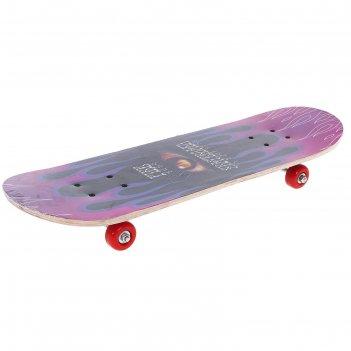 Скейтборд нв-116, размер 82x21 см, колеса pvc d= 50 мм