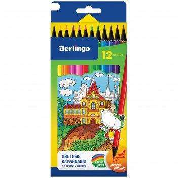 Карандаши цветные 12 цветов «волшебный дворец»