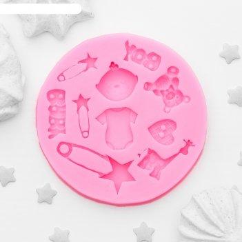 Молд силиконовый 8x1 см для новорождённого