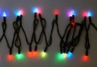 Гирлянда свечи 40 led, цветное свечение, черный провод