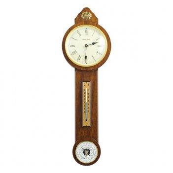 B07  часы - барометр  кантри,орех антик, h.68 см