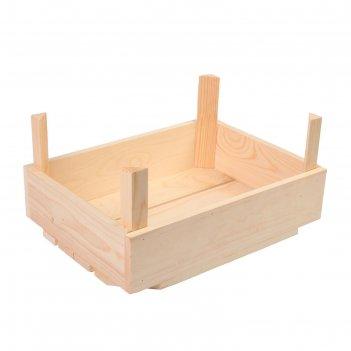 Ящик для овощей и фруктов, 40 x 30 x 20 см, деревянный, с ножками