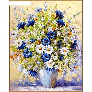 Алмазная мозаика летний букет, 40*50 см, 39 цветов