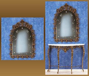 Зеркало из бронзы virtus король золото 119х80см 8310