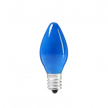 Лампочка накаливания e12, 10w, для ночников и гирлянд, матовая синяя, 220