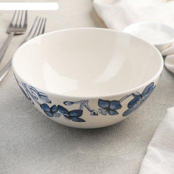 Миска «синие цветы», d=16 см
