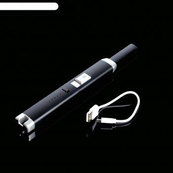 Зажигалка электронная, кухонная, usb, чёрная, 23х2.5х1.5 см