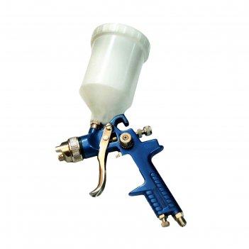 Краскораспылитель partner h-827-4v, с верхним пластиковым бачком, 600 мл,