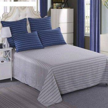 Комплект «бильбо»: простыня 230x250 см, наволочки 50x70 см-2 шт, темно-син