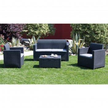 Комплект садовой мебели (2ух местный диван +2 кресла+ столик )nebraska 2 s
