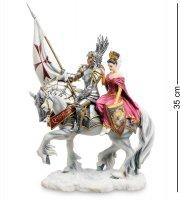 Ws-840 статуэтка рыцарь и его дама сердца (р.томпсон)