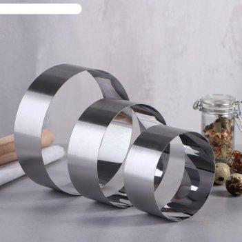 Набор форм для выпечки и выкладки круг, d-15, h-5 см, 3 шт.