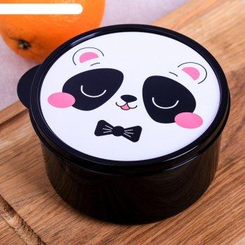 Ланч-бокс круглый 500 мл панда